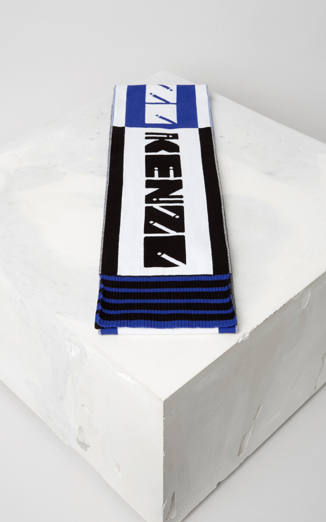 DEEP SEA BLUE 'KENZO Team' Scarf for women