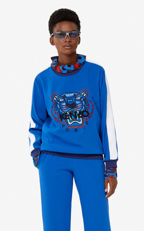 ELECTRIC BLUE Crepe Tiger top for women KENZO