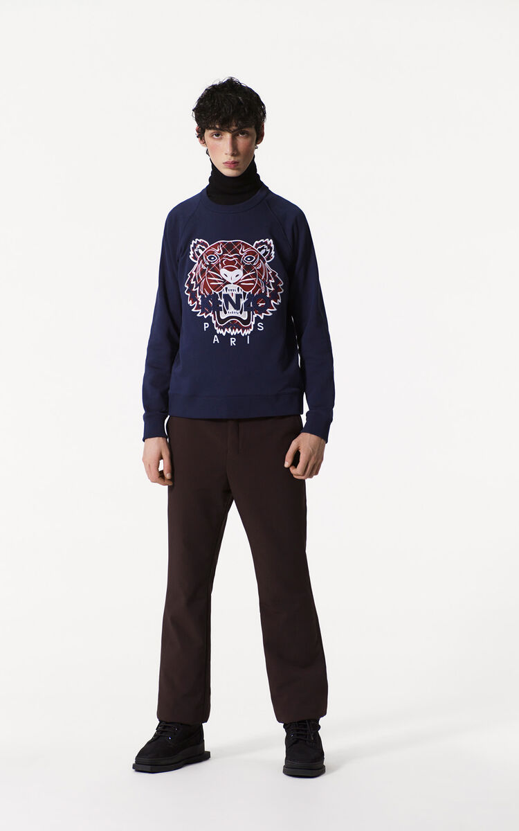 INK Tiger x Checkers Sweatshirt for men KENZO