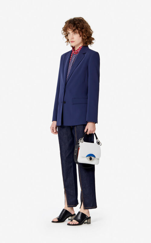 MIDNIGHT BLUE Belted jacket for women KENZO