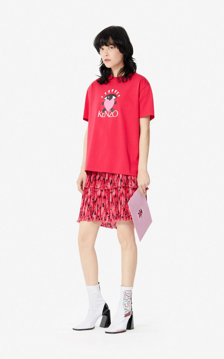 DEEP FUSCHIA 'Cupid' T-shirt for women KENZO
