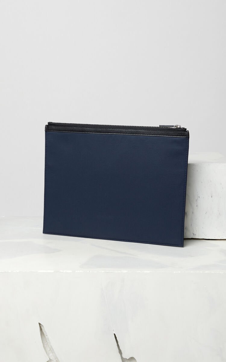 INK A4 KENZO Logo multico clutch for men