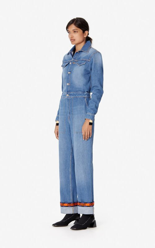 NAVY BLUE Denim jumpsuit for women KENZO