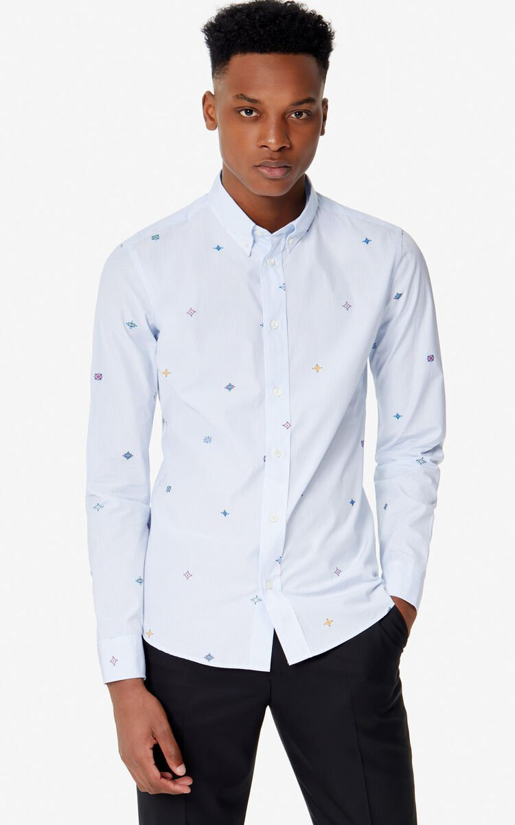 LIGHT BLUE Slim-fit shirt for men KENZO