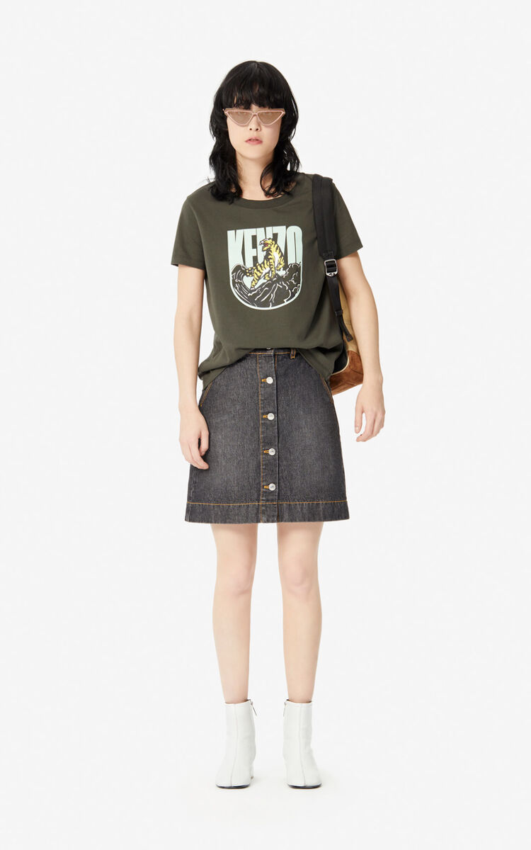 DARK KHAKI 'Tiger Mountain' 'Capsule Expedition' T-shirt for women KENZO