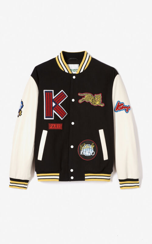 BLACK Varsity jacket for unisex KENZO