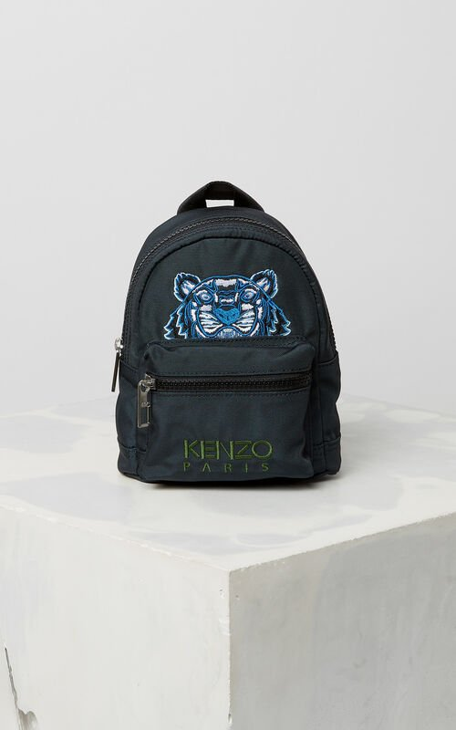 DARK GREY Mini Tiger Canvas backpack for women KENZO