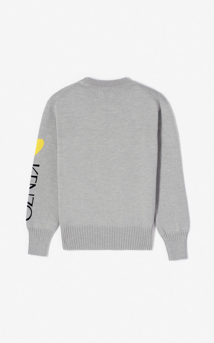 PALE GREY 'Cupid' jumper 'Capsule Back from Holidays' for women KENZO
