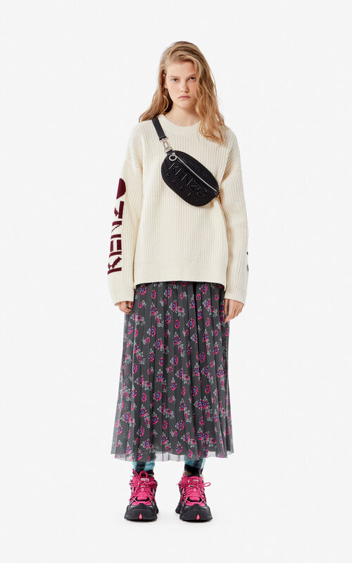 ECRU KENZO Paris thick wool jumper for women