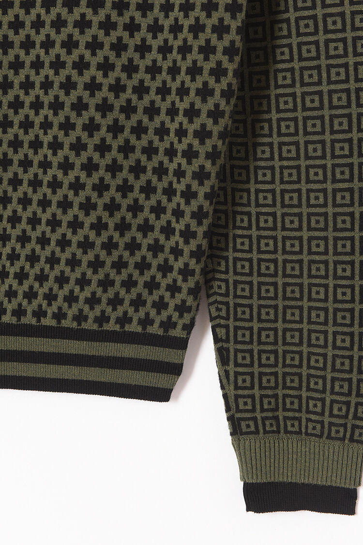DARK KHAKI 'Fair Isle' K Jumper for men KENZO