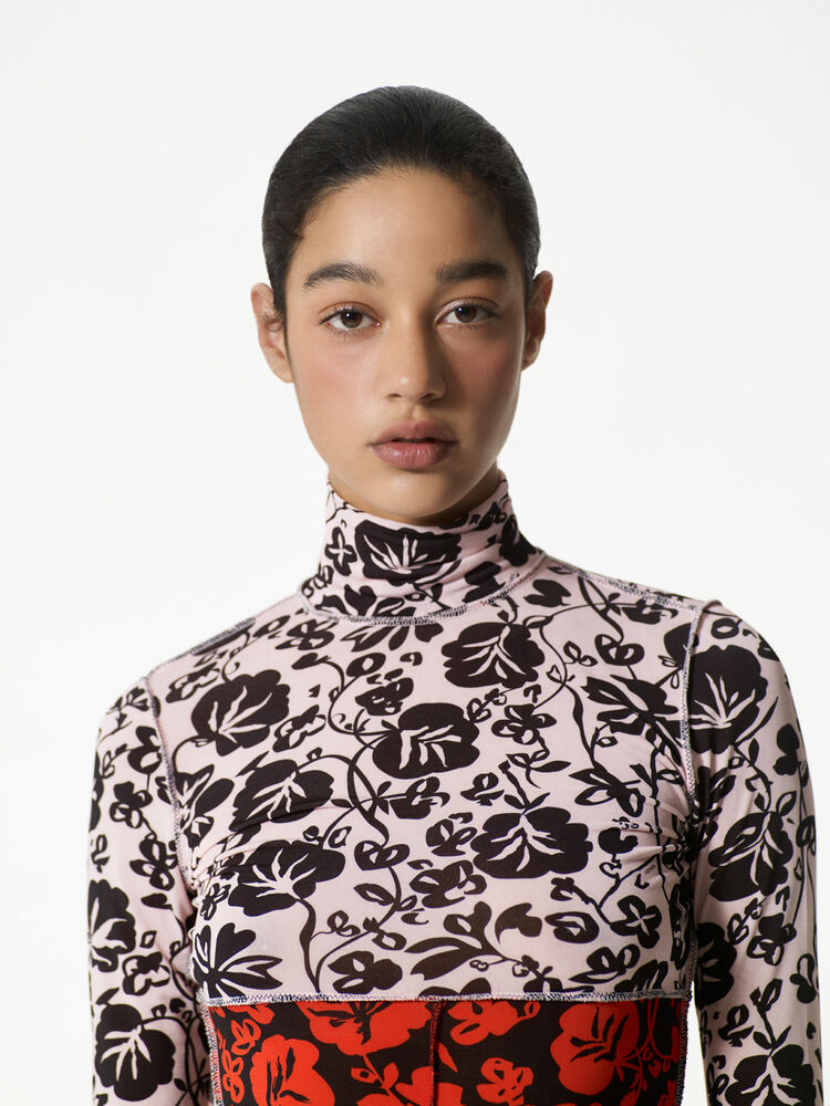 FADED PINK 'Floral Leaf' Top for women KENZO