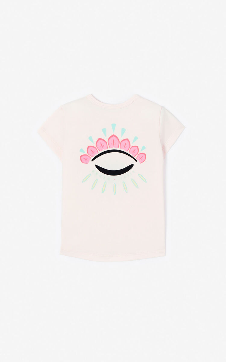 FADED PINK 'Cali Party' Eye T-shirt for men KENZO