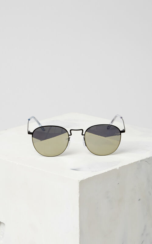 BLACK Flat Lens 'Knox' Sunglasses for women KENZO