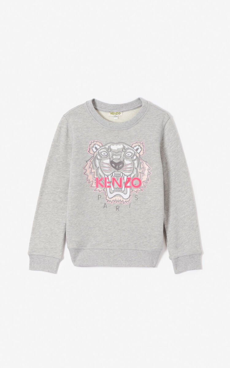 MISTY GREY Tiger sweatshirt for women KENZO