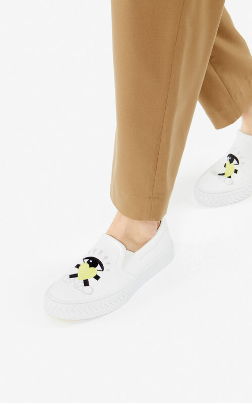WHITE 'Cupid' K-Skate slip-on shoes for men KENZO