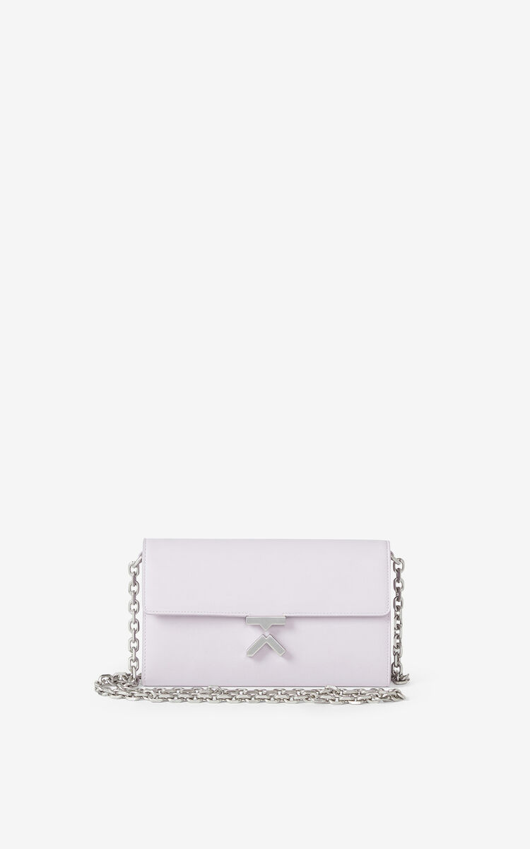 WISTERIA KENZO K leather chain wallet for unisex