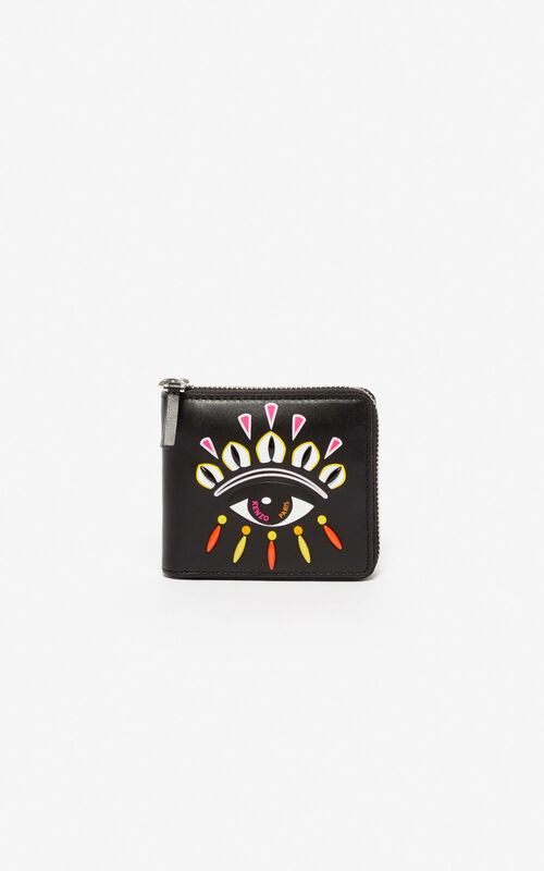 BLACK Kontact Eye wallet for women KENZO