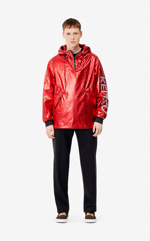 VERMILLION KENZO logo shiny windstopper for women