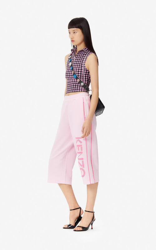 PASTEL PINK KENZO logo culottes for women