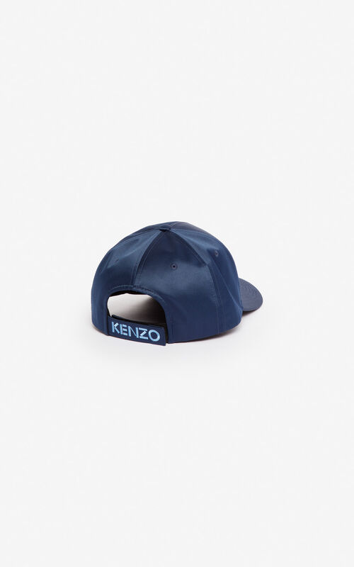 MIDNIGHT BLUE Satin Tiger cap 'Holiday Capsule' for unisex KENZO