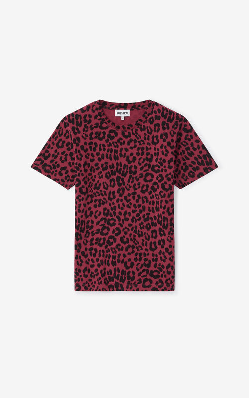 MAGENTA 'Leopard' loose-fitting T-shirt for unisex KENZO