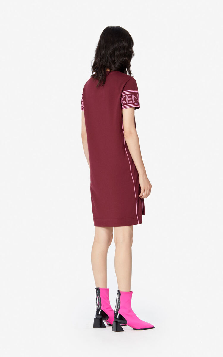 BORDEAUX KENZO Logo T-shirt dress for women