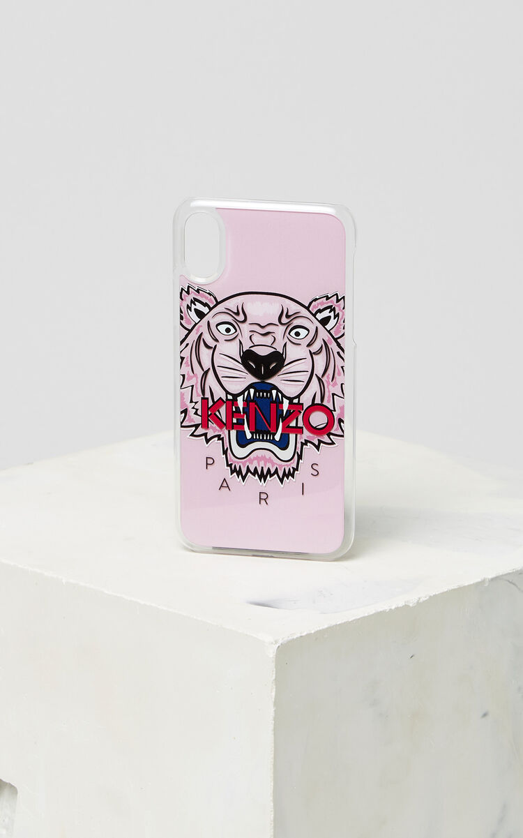 FADED PINK 3D Tiger iPhone X case for unisex KENZO