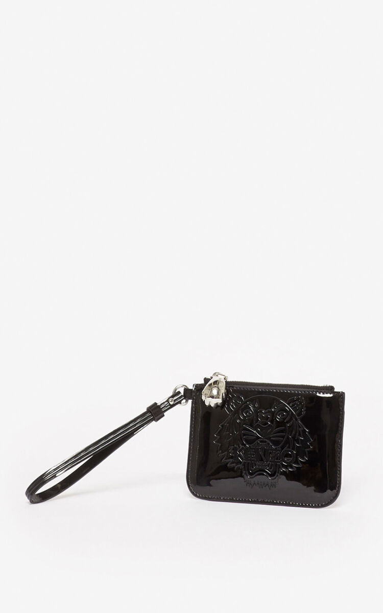 BLACK Mini Tiger clutch for unisex KENZO