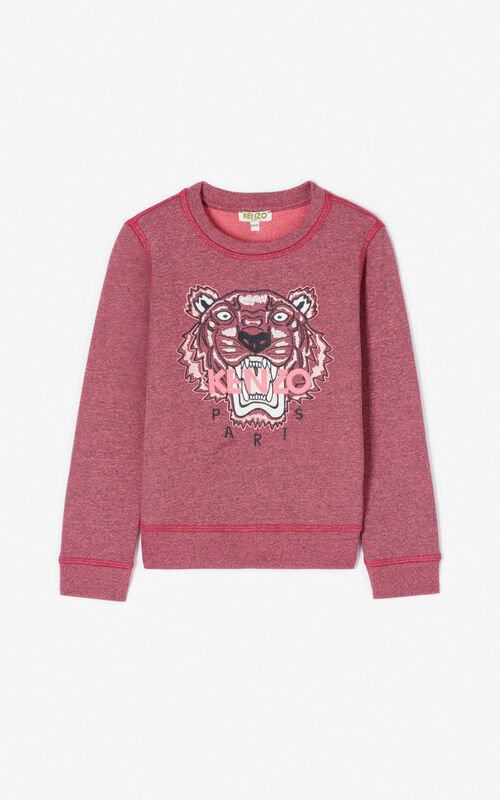 FLAMINGO PINK Tiger sweatshirt for women KENZO