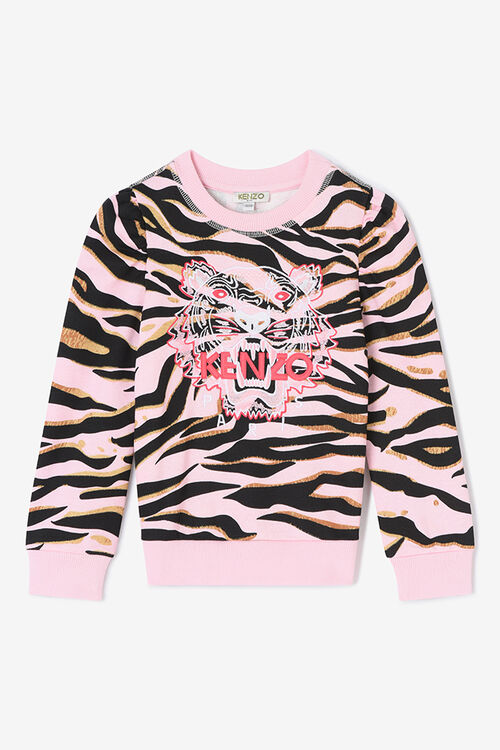 FADED PINK Tiger Stripes Sweatshirt for women KENZO