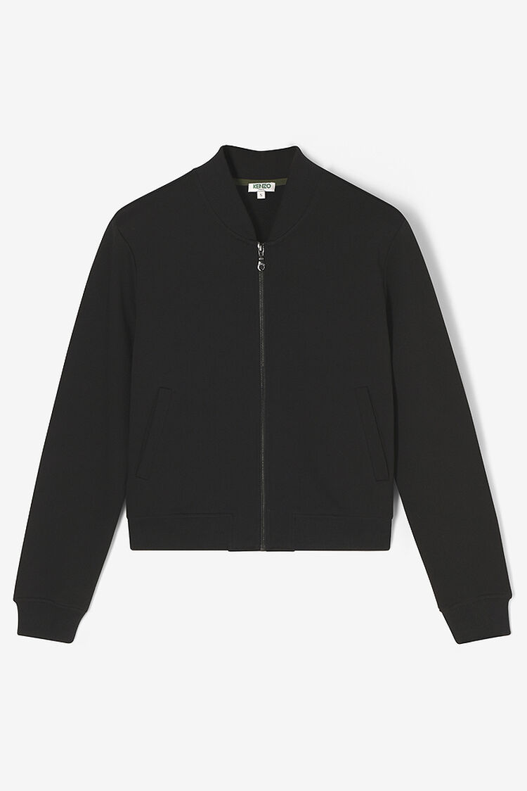 BLACK Tiger jersey bomber for women KENZO