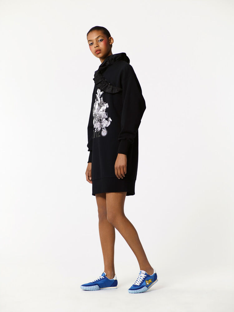 BLACK 'Animals' Sweatshirt Dress for women KENZO