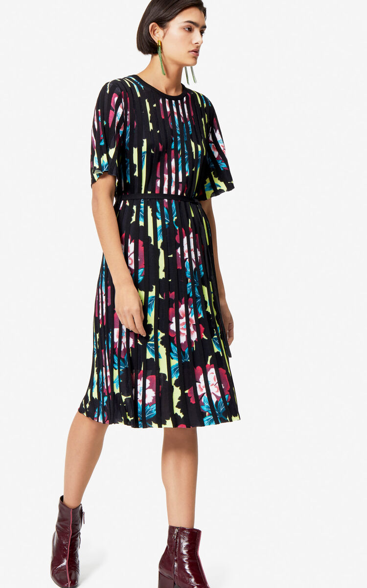 MUSTARD 'Indonesian Flower' pleated dress for women KENZO