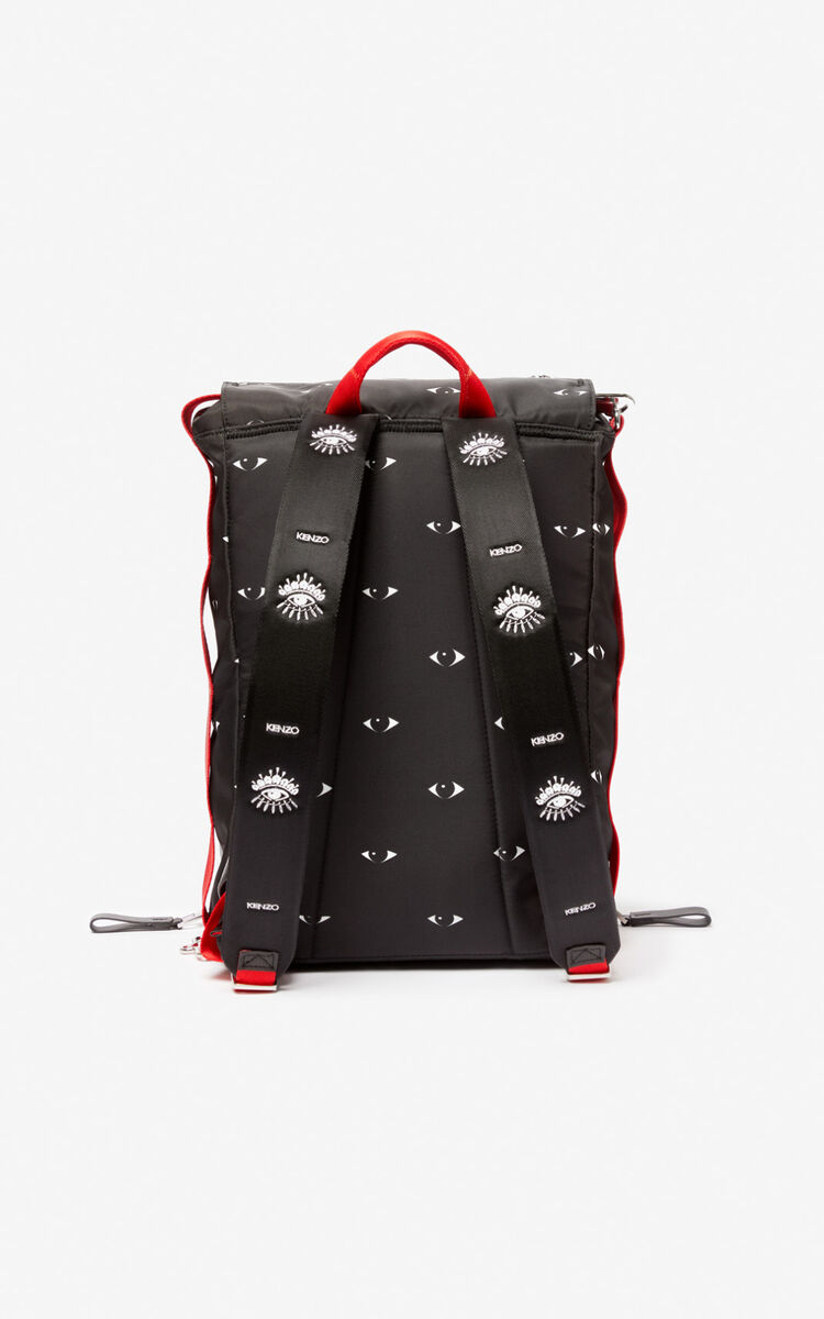 BLACK Multi Eye backpack for unisex KENZO