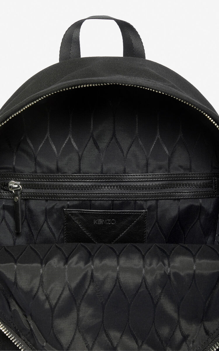 BLACK Large 'Tiger Mountain' 'Capsule Expedition' backpack for men KENZO