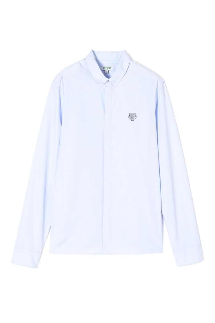 LIGHT BLUE Tiger shirt for women KENZO