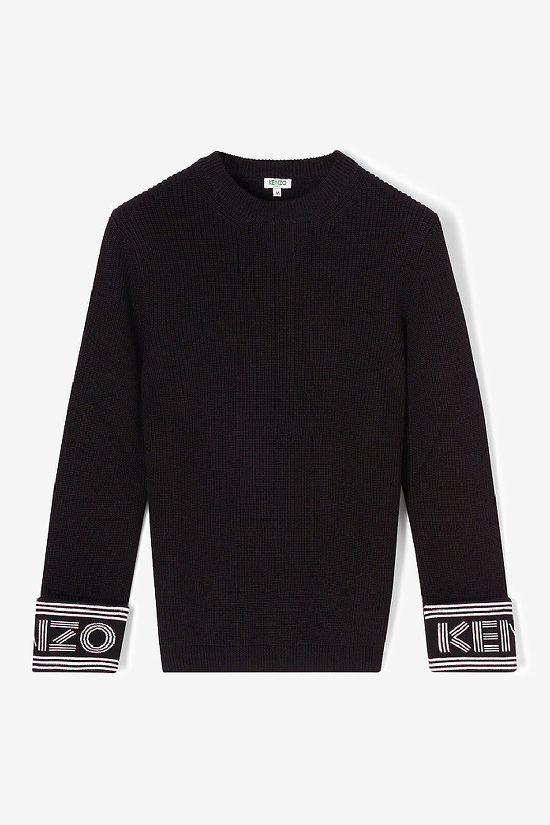 BLACK KENZO Ribbed Sweater for men