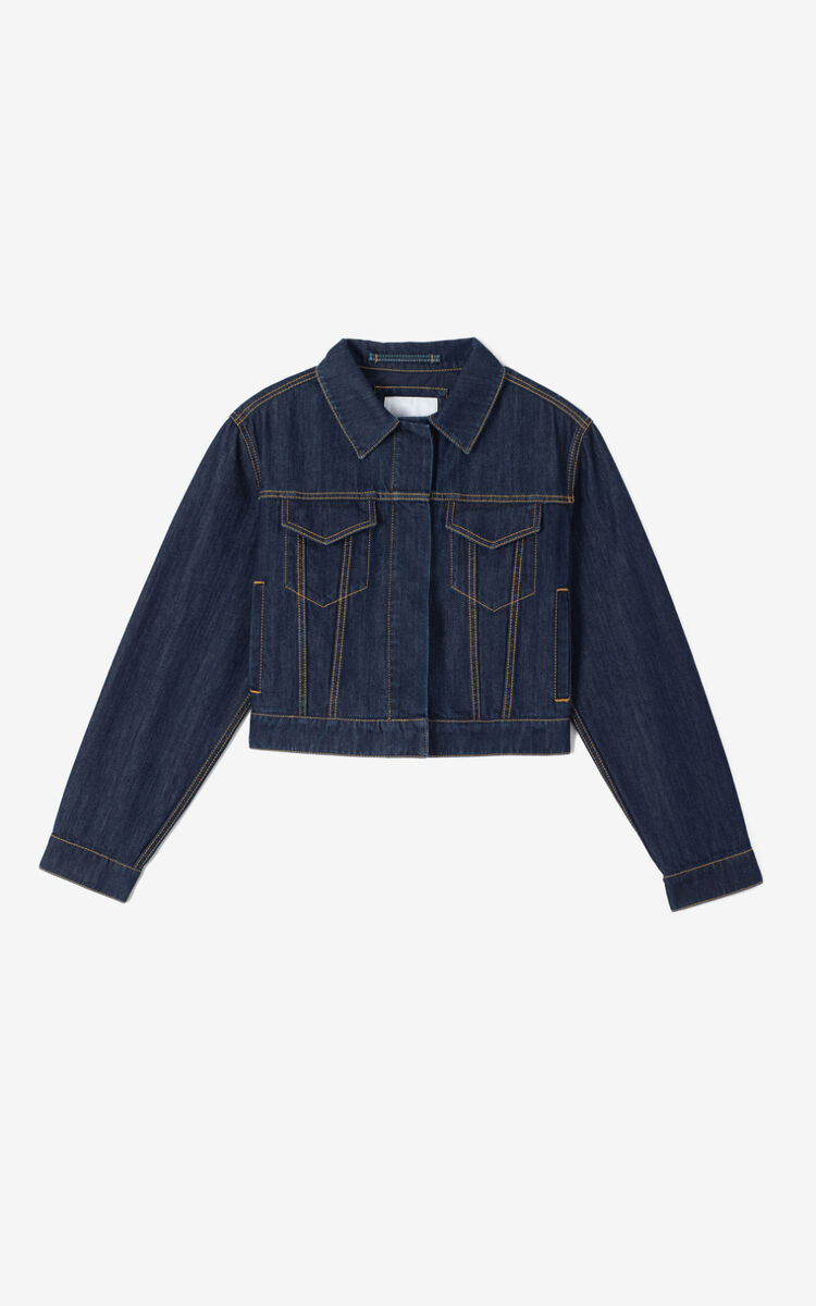 MIDNIGHT BLUE Denim Jacket for women KENZO