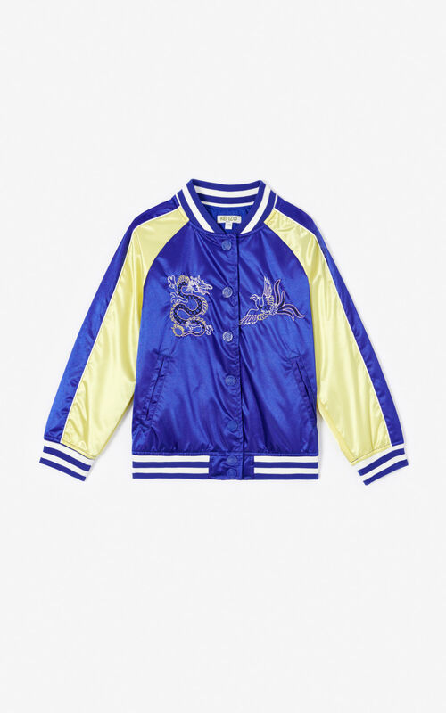 COBALT 'Dragon Celebration' Tiger Teddy jacket for unisex KENZO