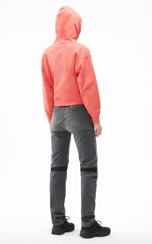 CORAL Tiger Crest boxy hooded sweatshirt for women KENZO