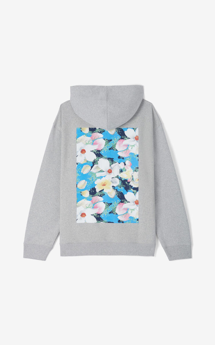 ANTHRACITE 'Tulipes' hoodie sweatshirt for women KENZO