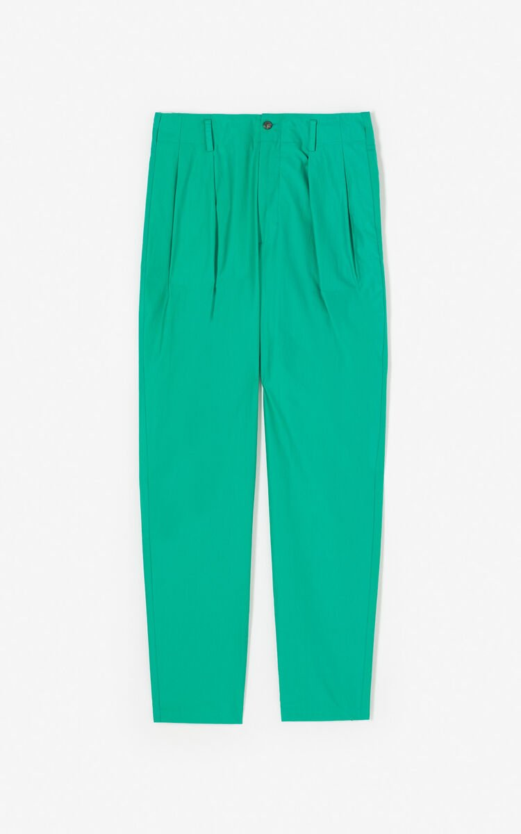 GREEN Straight-cut trousers for global.none KENZO