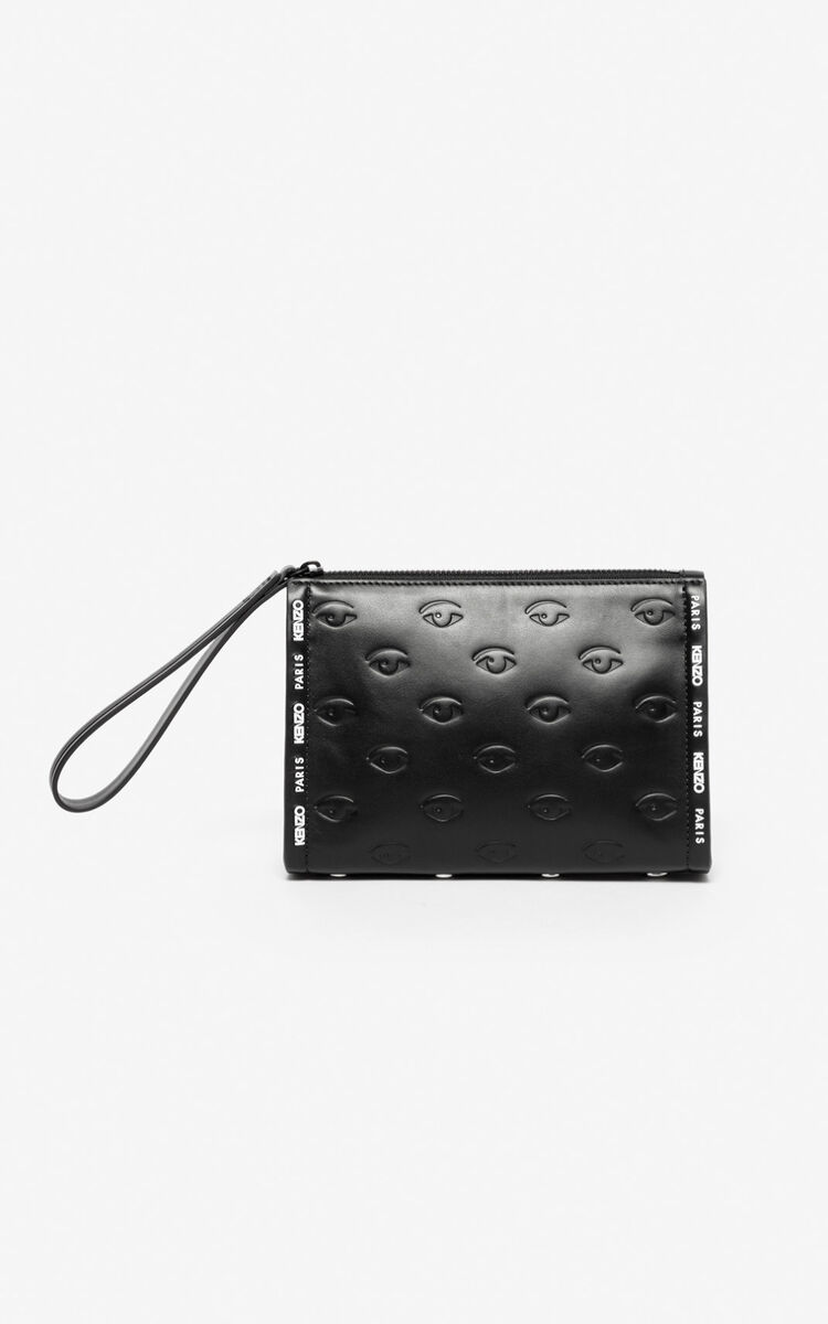 BLACK Multi-Eye clutch for unisex KENZO