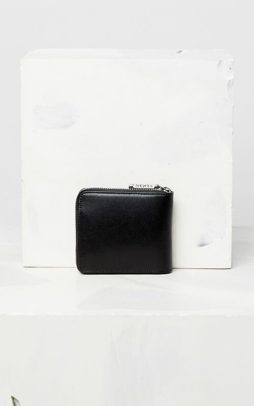 BLACK Eye leather wallet for unisex KENZO