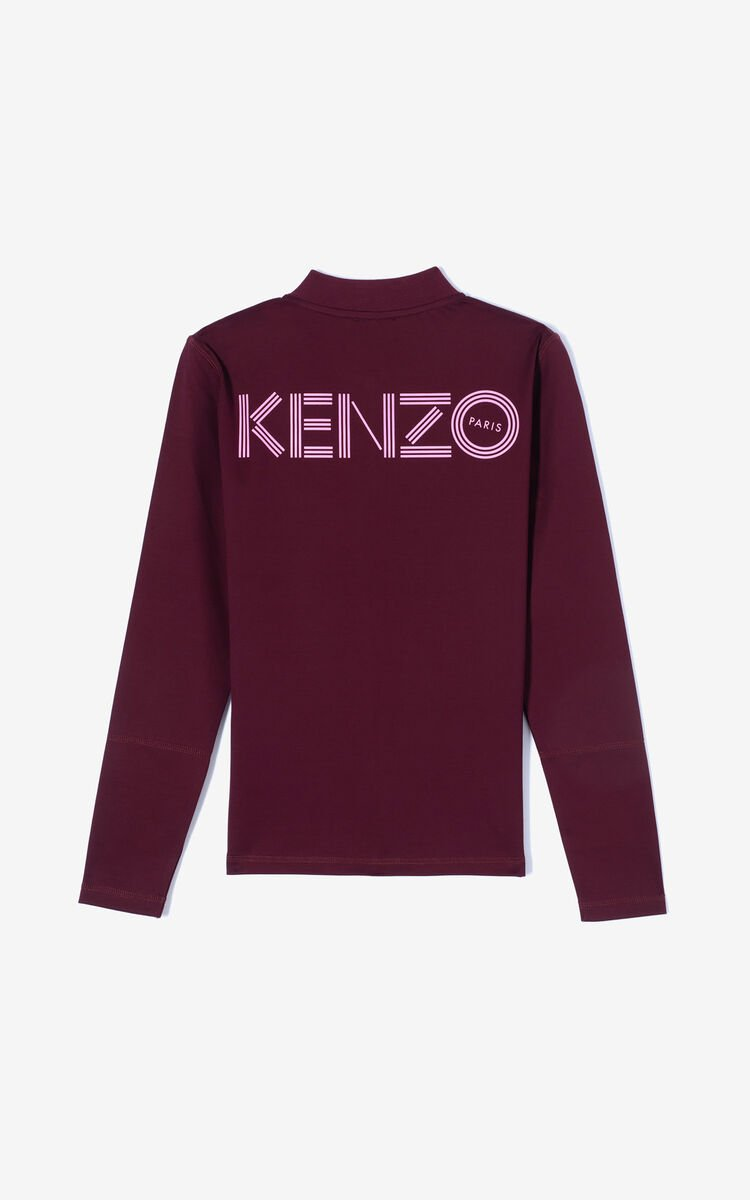 BORDEAUX KENZO logo zipped jacket for women