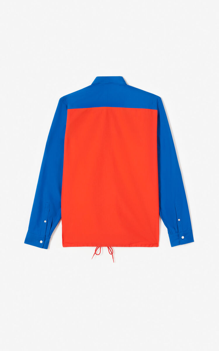 MEDIUM RED Colorblock shirt for women KENZO