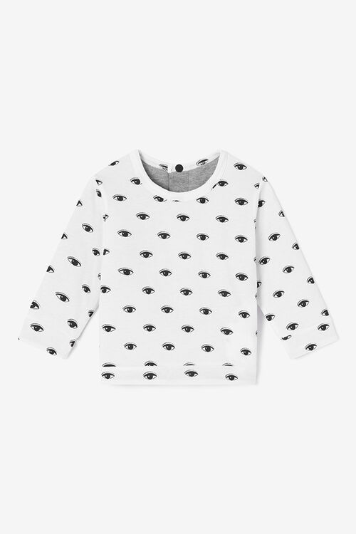MIDDLE GREY Reversible Eyes Sweatshirt for women KENZO