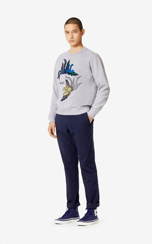 PEARL GREY 'Flying Phoenix' sweatshirt for women KENZO