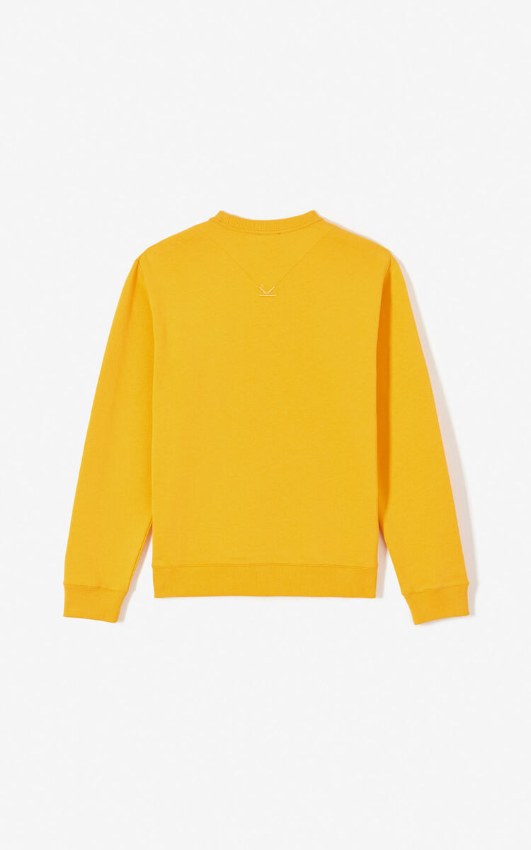 Sweatshirt KENZO Paris 'KENZO World' JAUNE ORANGE homme