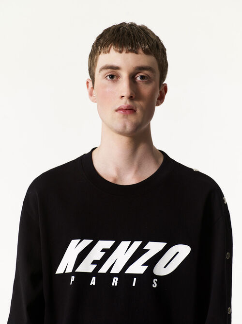 BLACK KENZO long sleeve t-shirt for women